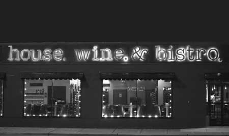 About house. wine. & bistro. - Our Location