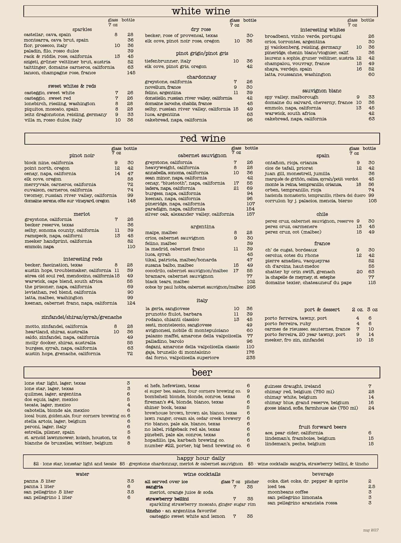 house.wine.&bistro.-beverage-menu